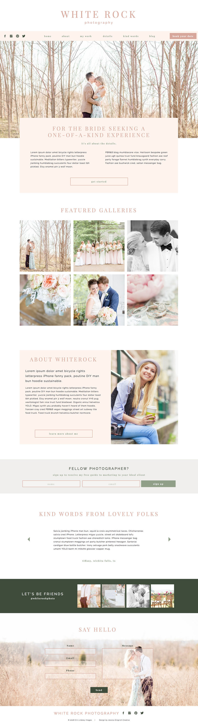 Whiterock Showit Website Template Desktop