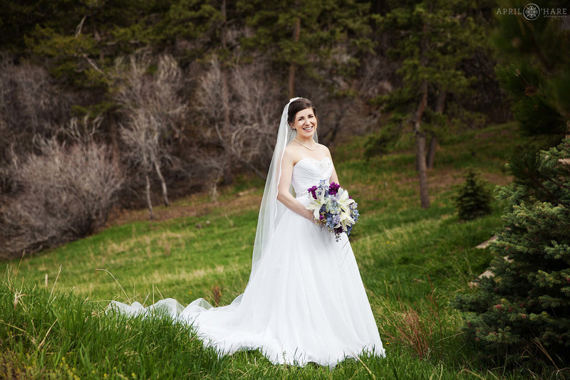 Bridal portrait during spring at The Pines at Genesee