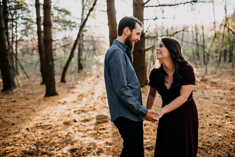 Late Fall Engagement Session at August Busch Wildlife Reserve-19