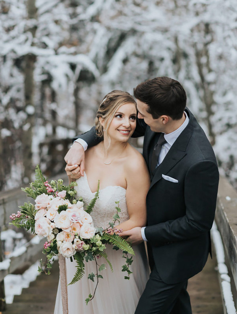 calgary snowy autumn wedding
