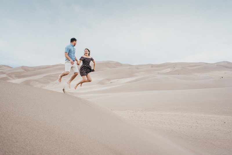 Fun-Great-Sand-Dunes-Engagement-Session