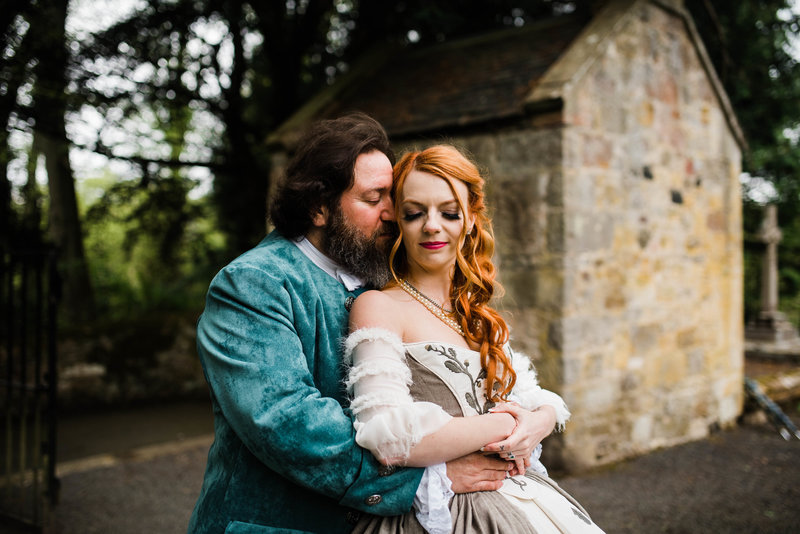 Wolf + Charlena-Outlander-Inspired-Wedding-Old-Glencorse-Kirk-Scotland_Gabby Chapin Photography_Print_0370