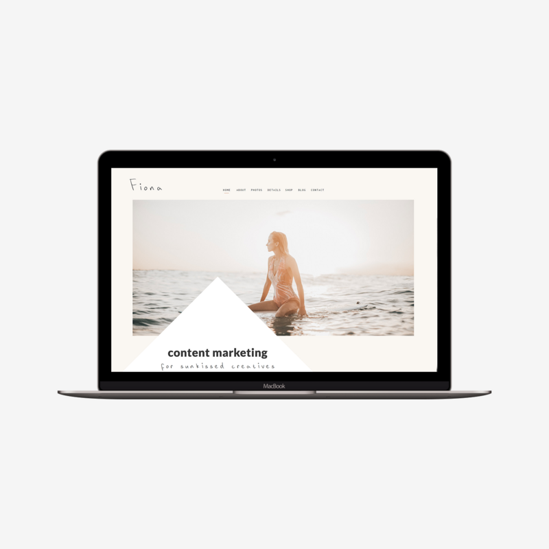 The Roar Showit Web Design Website Template Fiona Macbook