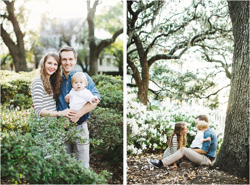 spring savannah family portraits