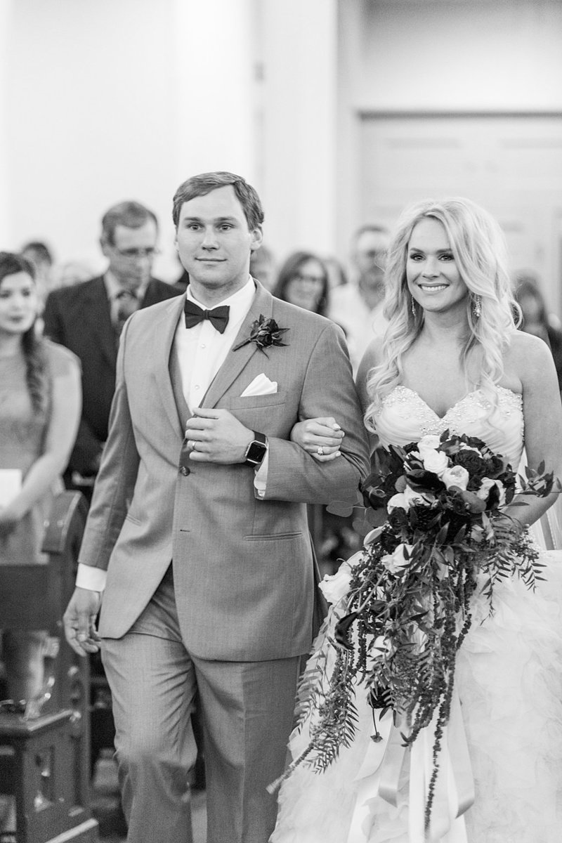 Wedding Ceremony at St Marys catholic church in Fredericksburg Texas and reception at National Museum of the Pacific war Nimitz in fredericksburg Texas Wedding Venue photos by Allison Jeffers Photography_0082