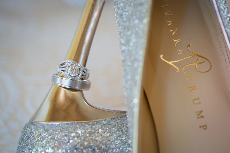 sparkly wedding shoes  Lynette Smith Photography