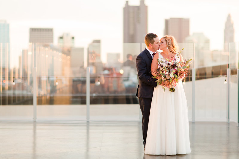 Juniper Rooftop Wedding bride and groom