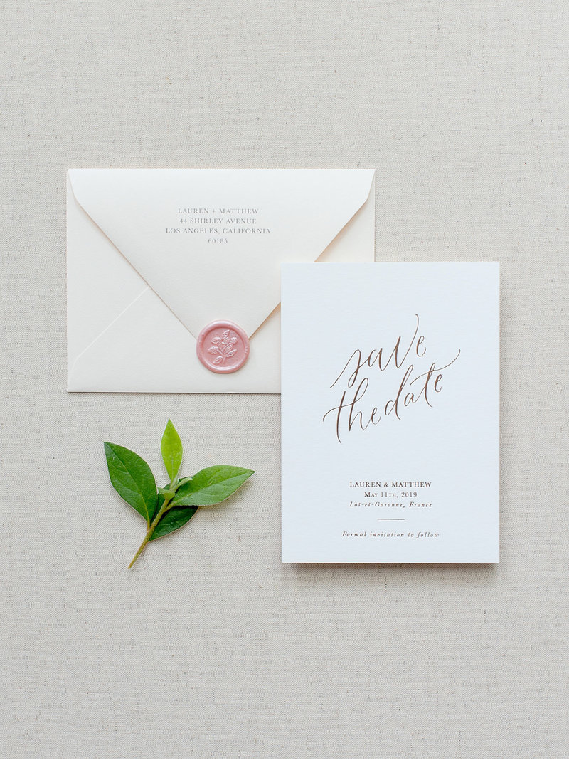 Semi-Custom Invitations - Simple Elegance Collection Save the Date