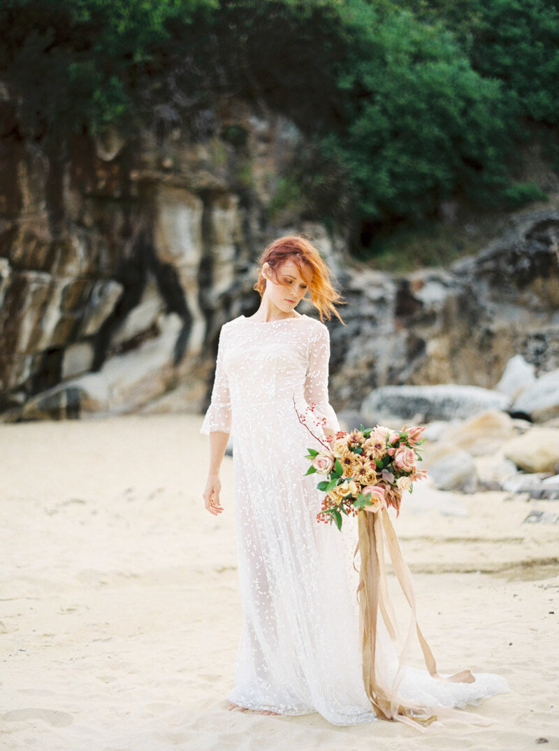 Sydney Fine Art Film Wedding Photographer Sheri McMahon - Sydney NSW Australia Beach Wedding Inspiration-00028