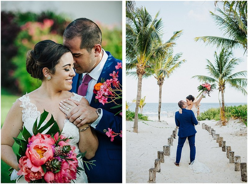 cancun destination wedding colorful beach wedding