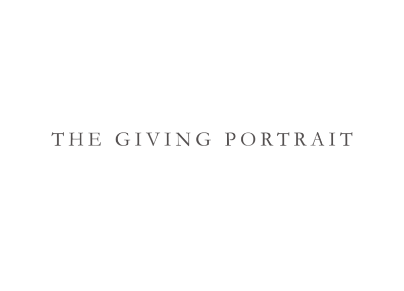 the giving portrait logoсерый