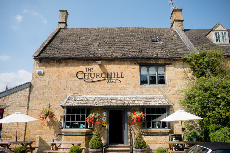 external business photograph of the Chirchill arms pub and restaurant in Paxford