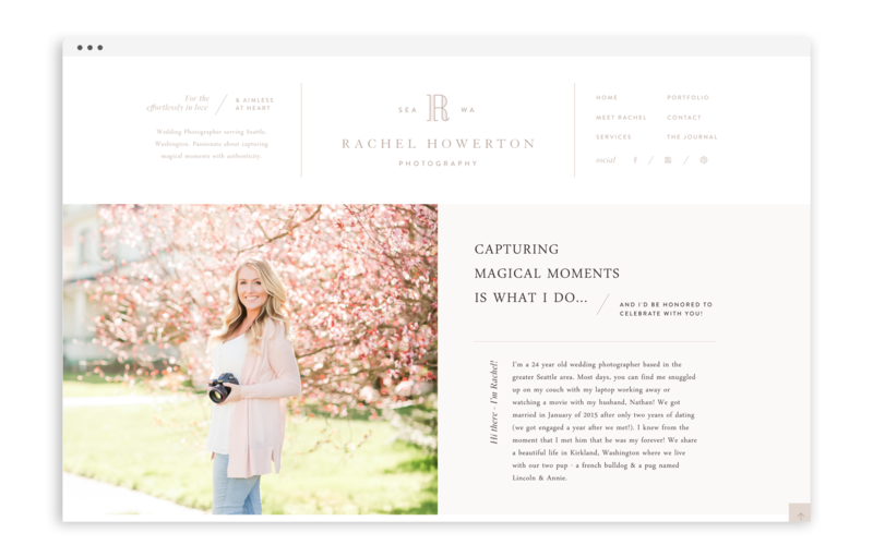 Rachel Howerton Photography - Logo Design, Stationery Design, and Web Design - Photo - 3