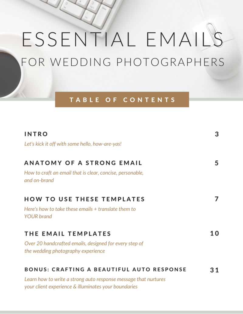 Essential Emails for Wedding Photographers (1)