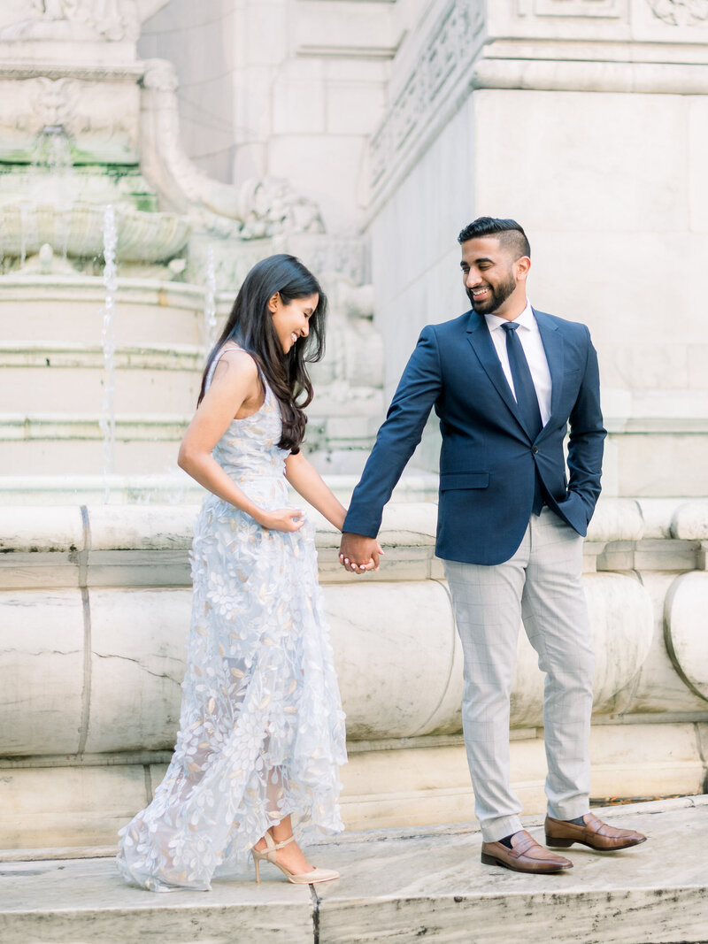 New York Public Library Engagement-New York City Wedding-Bryant Park-Liz Andolina Photography