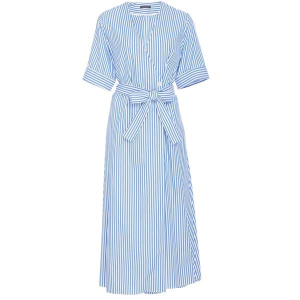 MDS Stripes Wrap Dress