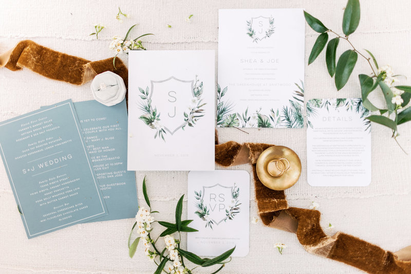 Modern Greenhouse Wedding Invitation Suite