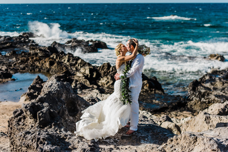 Kiss along the rugged cliffs of Northwest Maui