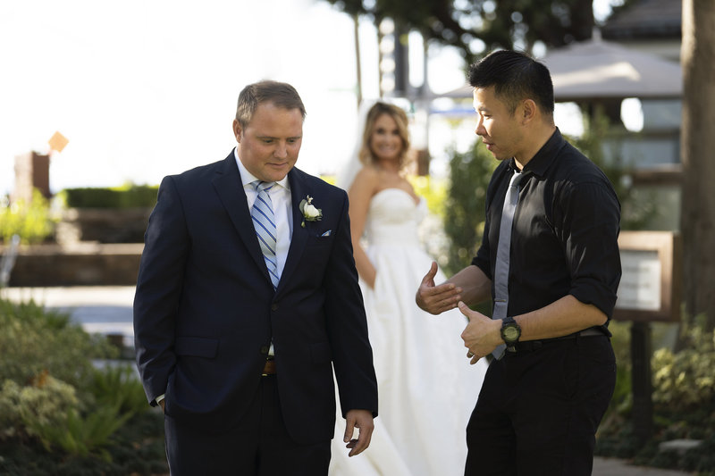 wedding photographer santa monica fairmont miramar first look