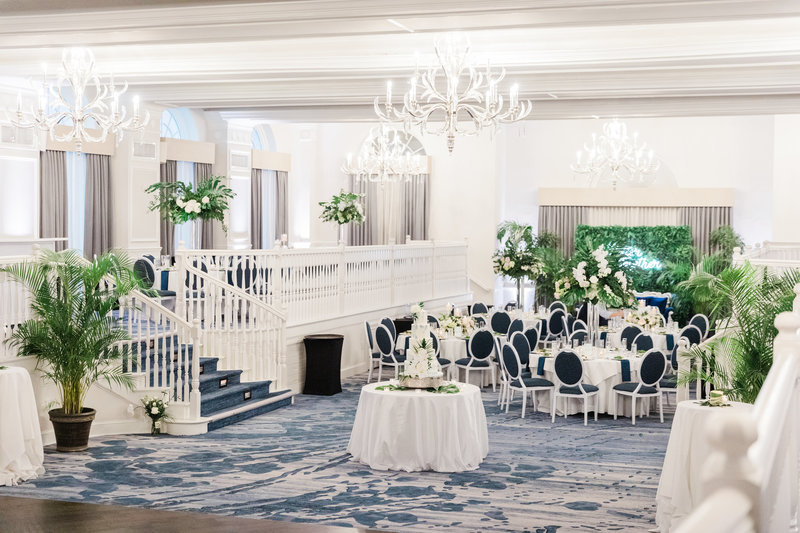 reception ballroom space at Don Cesar wedding in St Petersburg Florida by Costola photography