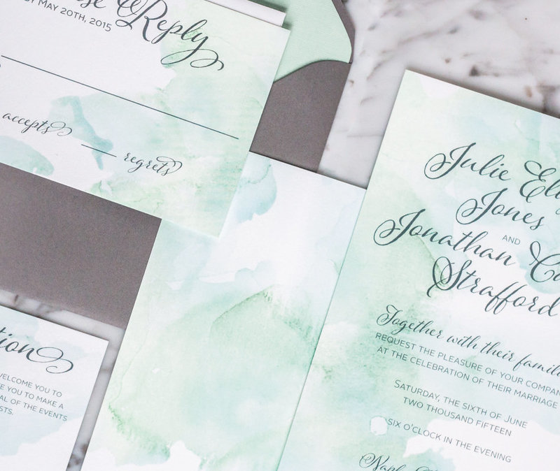 Julia Watercolor Seaside Wedding Invitation