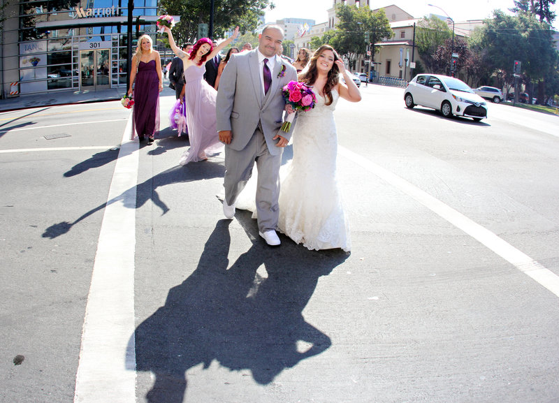 City weddings bridal party