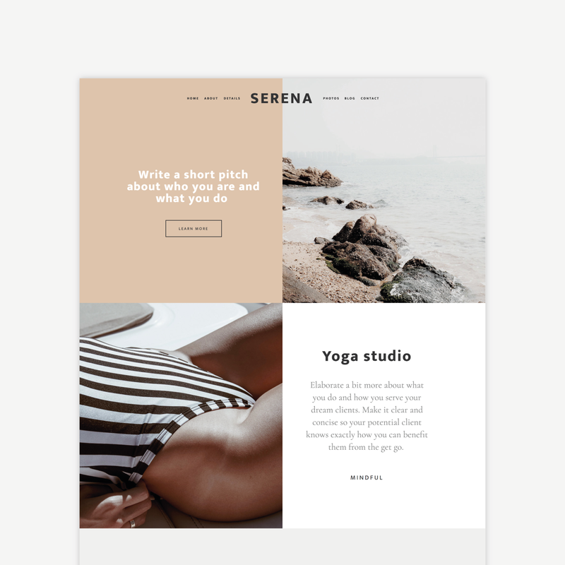 The Roar Showit Web Design Website Template Serena Shop Image