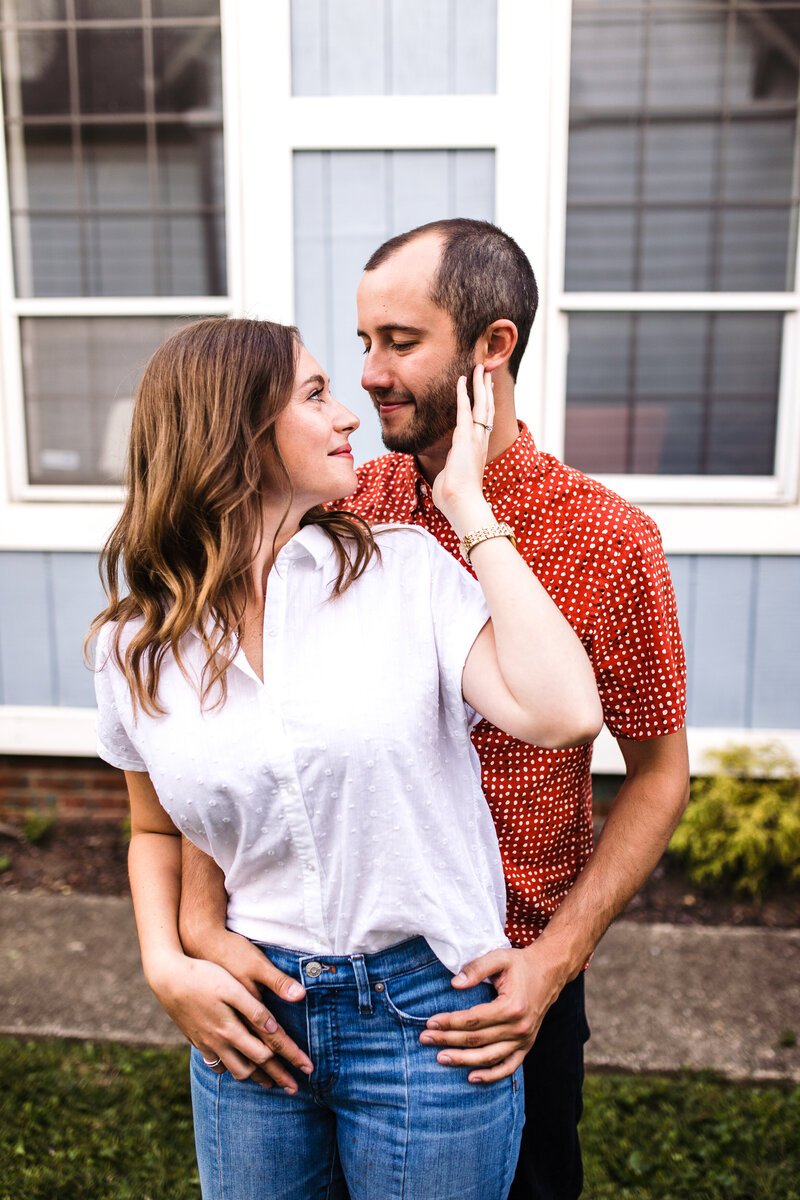 At Home Backyard Engagement Session Indianapolis