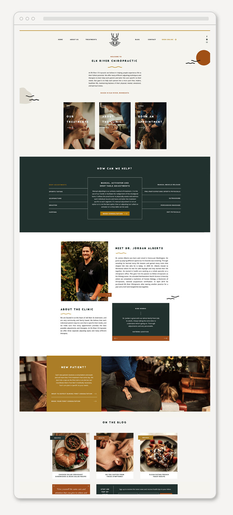 Lindsay Hotmire Website Homepage Mockup