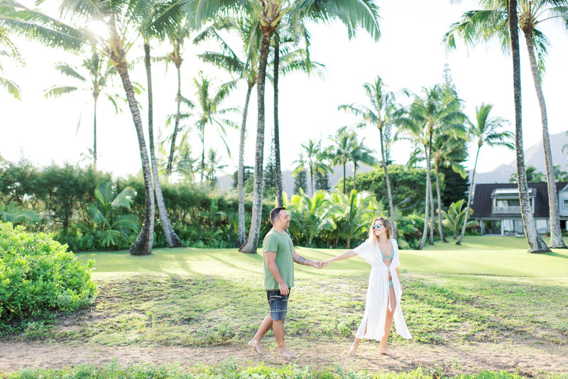 Kauai Hanalei Bay engagement photoshoot