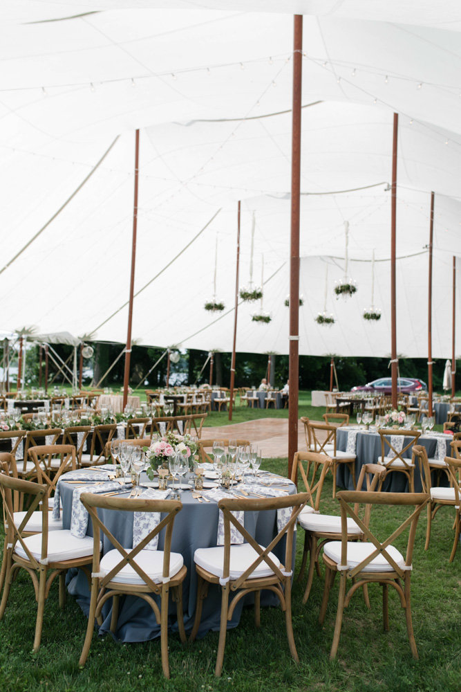 classic tent reception space at eastern shore wedding at kirkland manor by costola photography