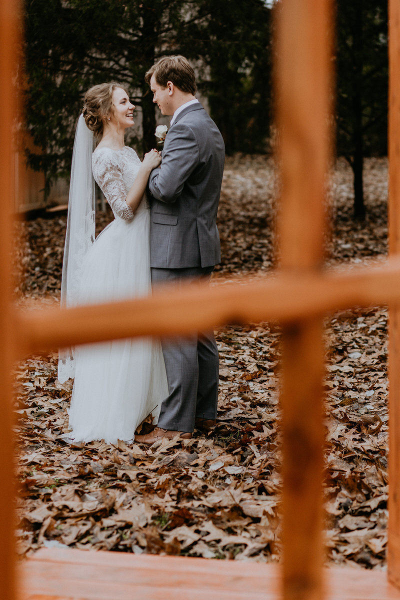 Caleb and Karlee finish their first look at Murfreesboro TN wedding venue