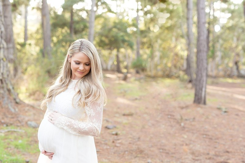 pacific grove woods white maternity dress