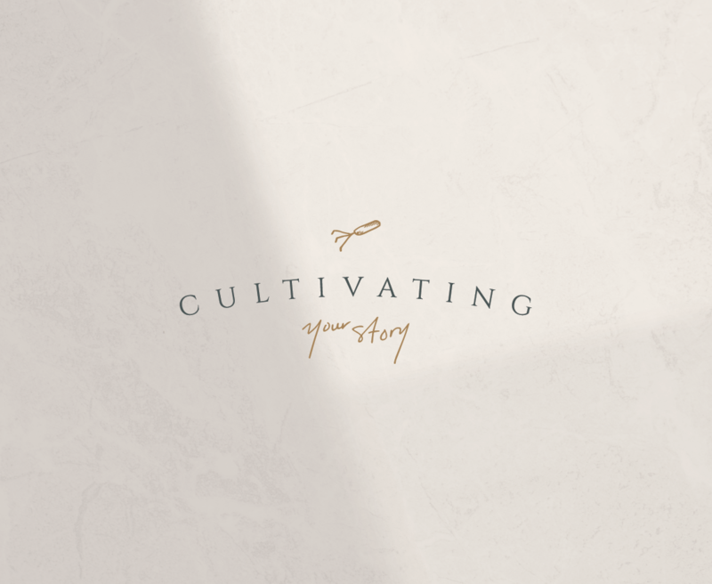 Primary logo design for Cultivating Your Story, an organization empowering and educating women to tell their stories.