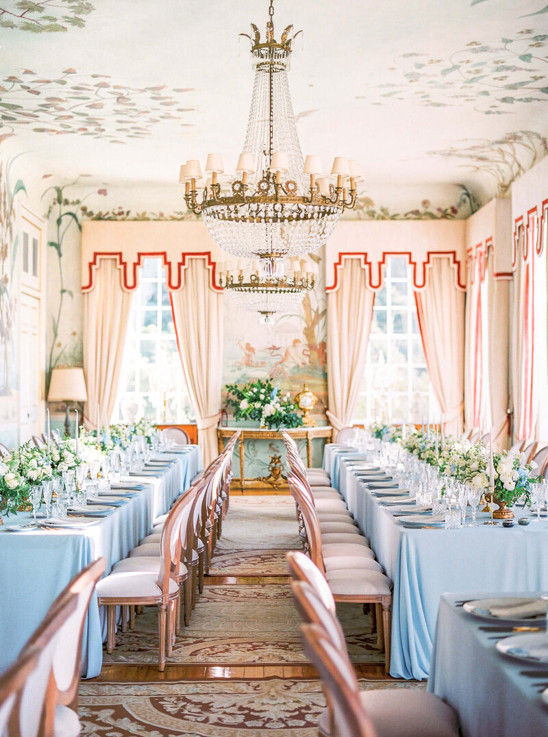 wedding reception at palacio Seteais in Sintra by Splendida Weddings