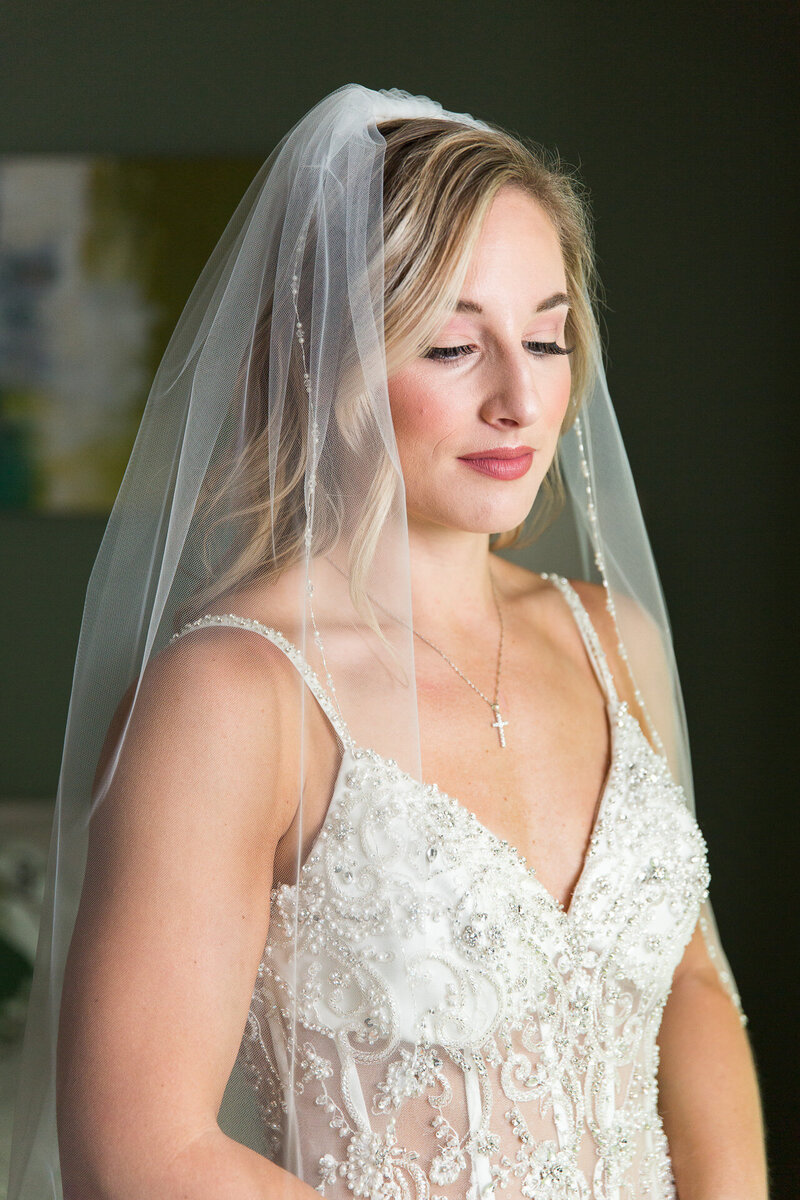 bride portrait in wedding dress