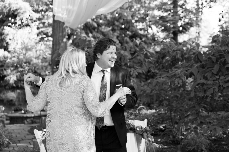 mother son dance in cleveland backyard COVID wedding