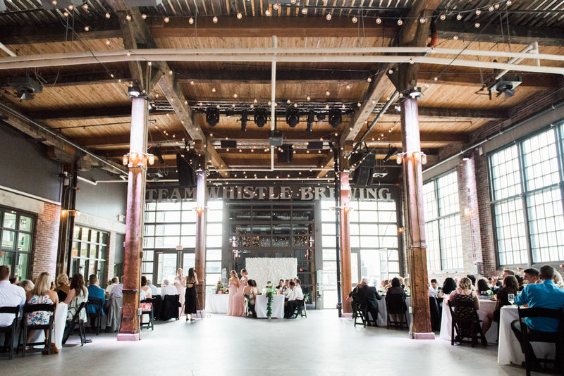 Photo of the interior of steam whistle brewery for a wedding