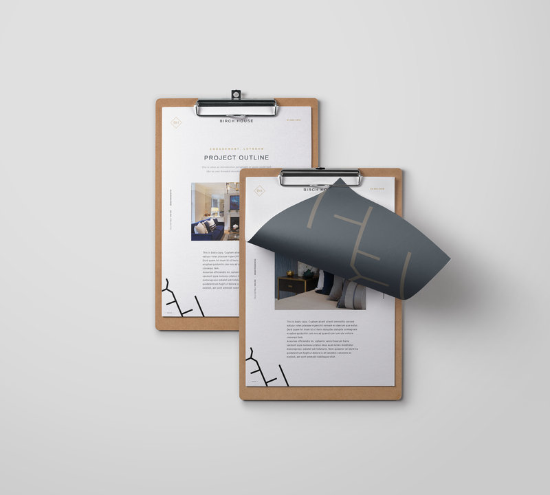 Birch House Collateral Stationery Design Mockup