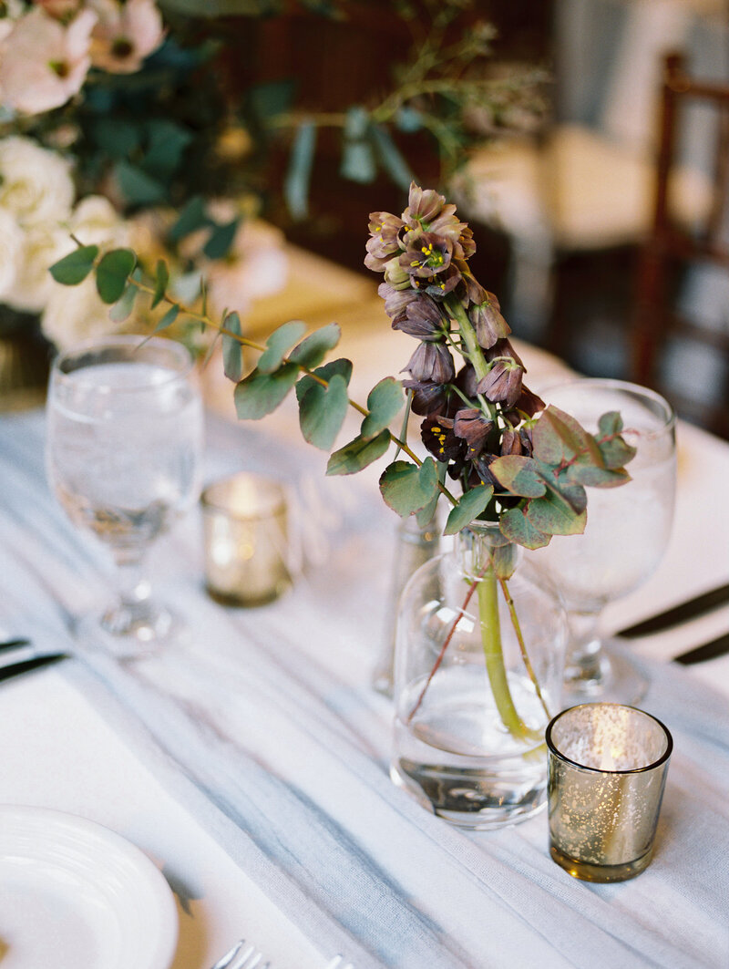 Wedding florals at reception