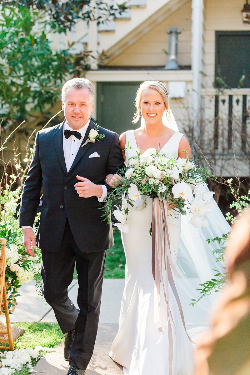 father walking bride down the aisle by Knoxville Wedding Photographer, Amanda May Photos