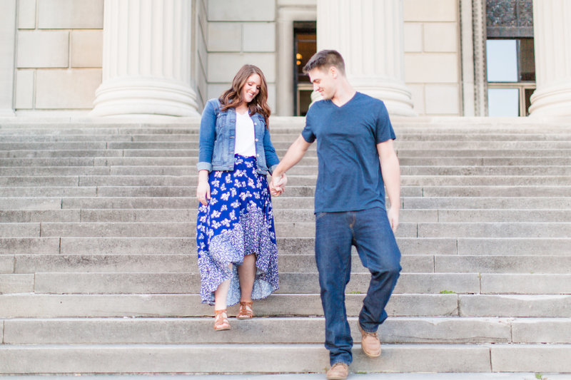 Youngstown Ohio Engagement Session Blue