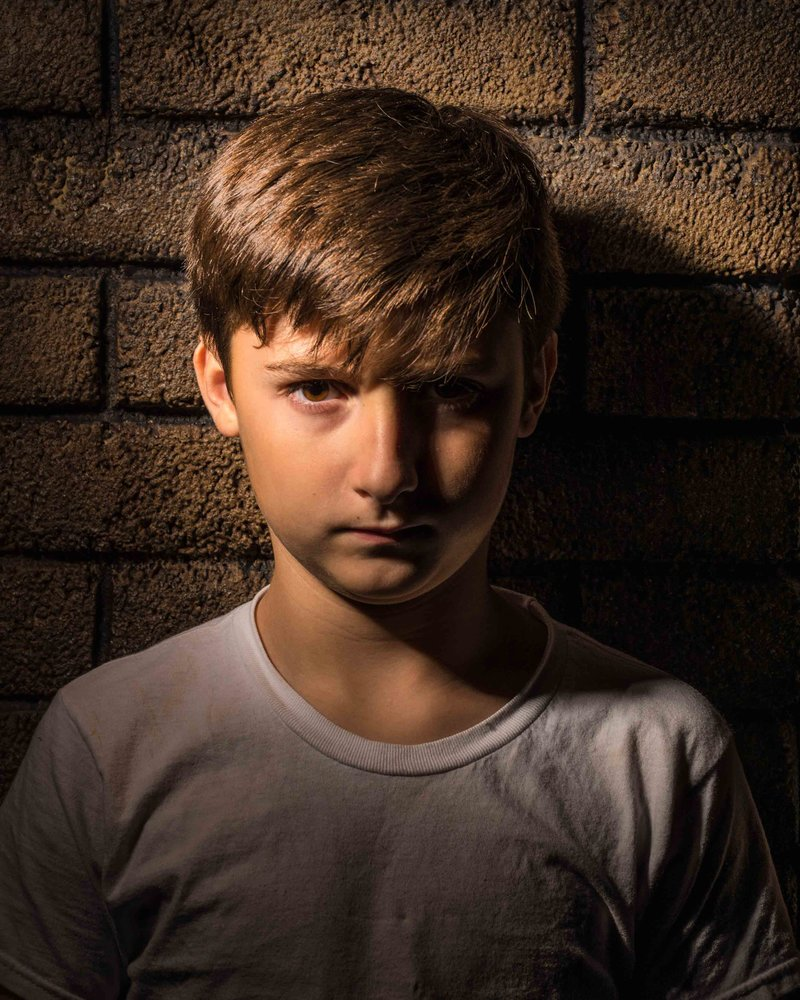 Portrait picture child nine year old boy