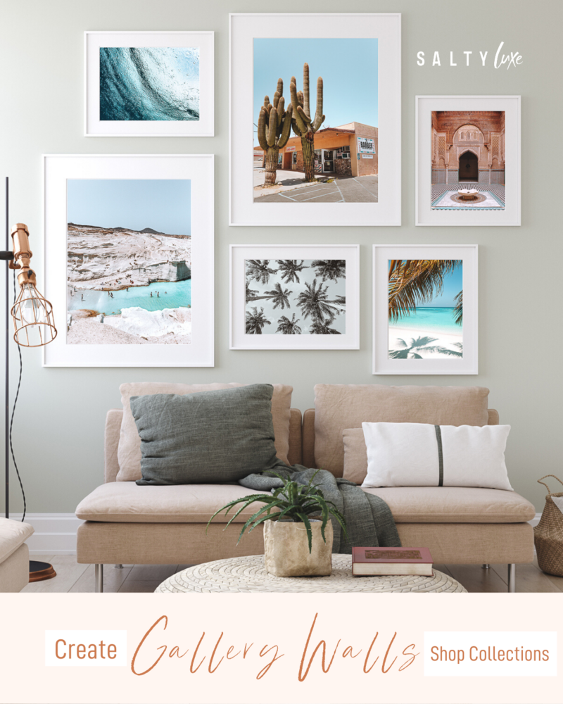 Salty Luxe Gallery Wall