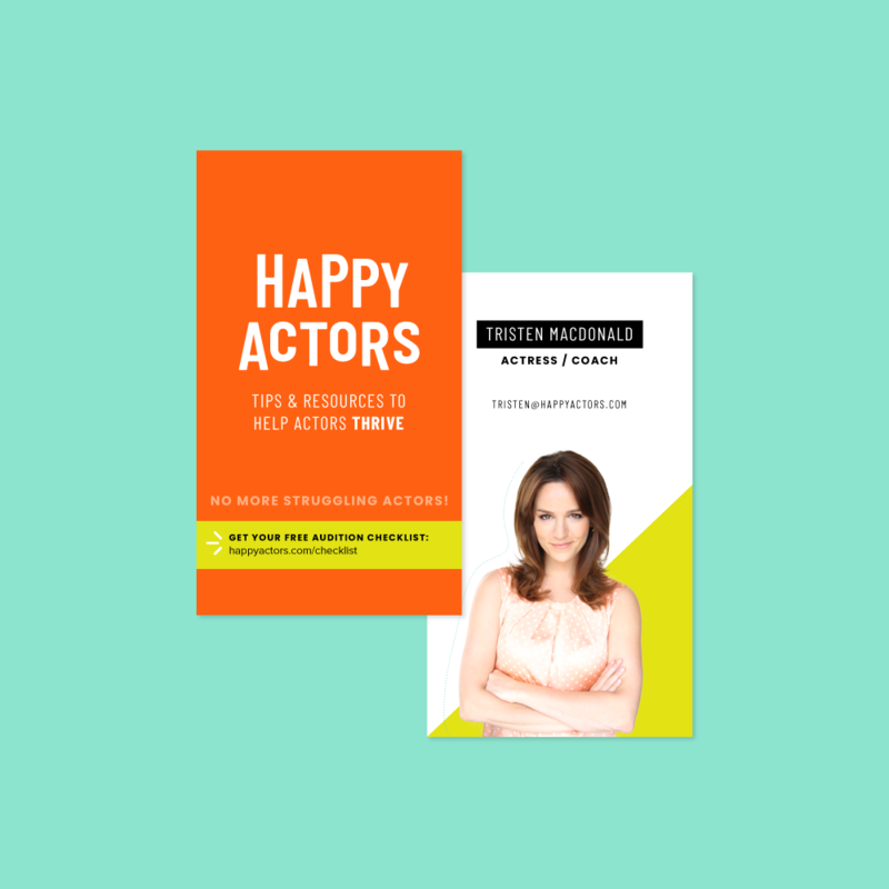Nicole A Yang Design Happy Actor Business Card