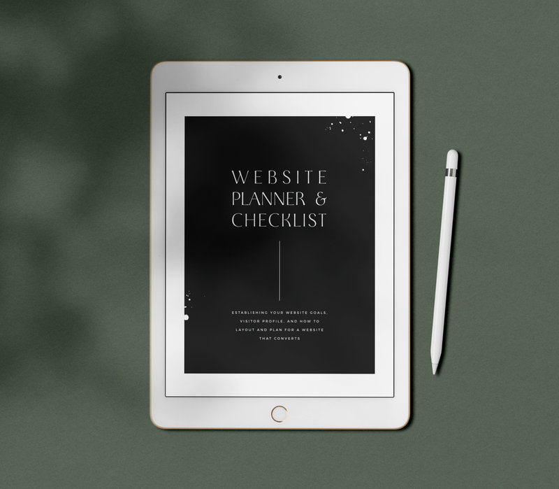 40-Page Detailed Website Content Planner and Checklist for Planning out website