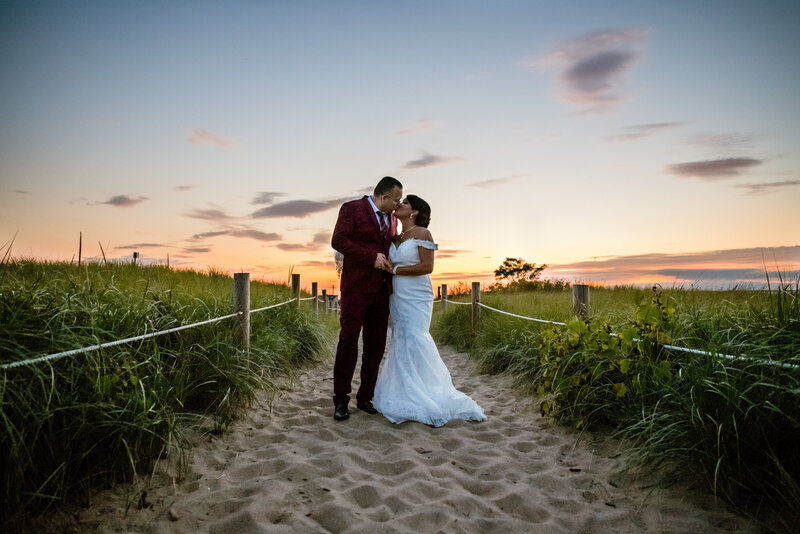 Sunset Plum Island Outdoor Wedding Portraits