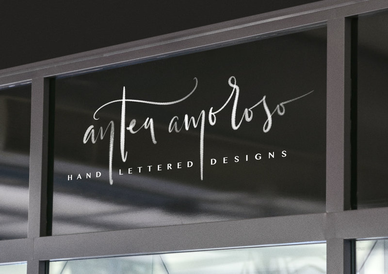 hand lettered logo for Antea Amorosoby Just Like White