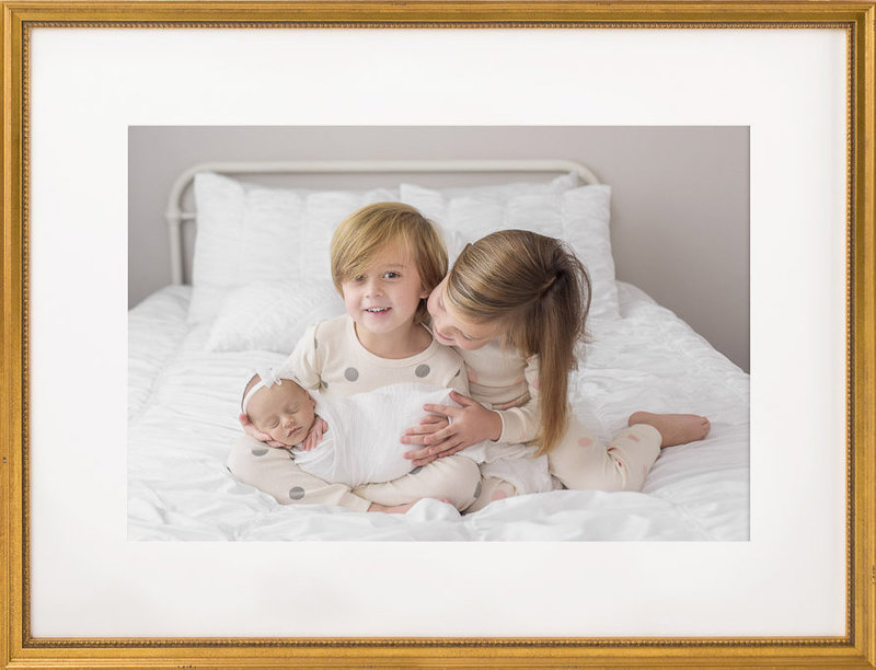 Newborn Photography with Siblings in pajamas | Salt Lake City, Utah