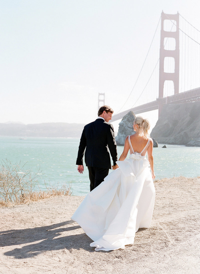 Wedding by Jenny Schneider Events at Cavallo Point luxury resort in Sausalito in Marin County, California. Photo by Lacie Hansen Photography.